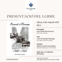 """Presentació del llibre """"Records d'Encamp"""" aquest dijous a La Valireta"""