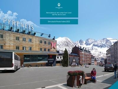 S'inicien les obres de remodelació del carrer Sant Jordi del Pas de la Casa