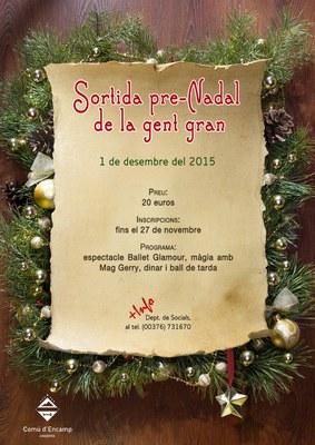 S'obren les inscripcions per a la sortida pre-Nadal de la gent gran