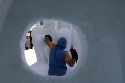 Torna el Concurs d'Escultures de Neu al Pas de la Casa