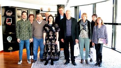 Una delegació de l'Alt Vallespir visita Encamp per conèixer el Ball de l'Óssa