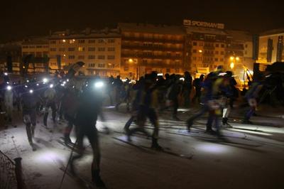 XX Cronoescalada nocturna d'esquí de muntanya al Pas de la Casa